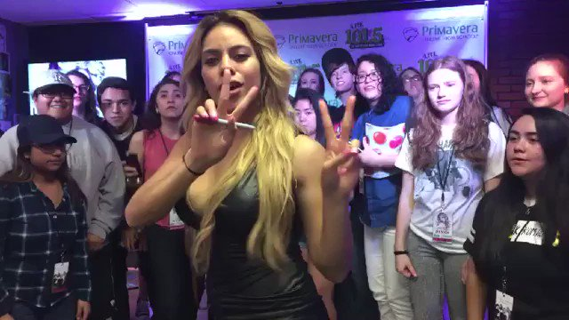 When @dinahjane97 of #FifthHarmony stops by to hang out with 101.5 #Harmonizers https://t.co/kvyFLgXw1z