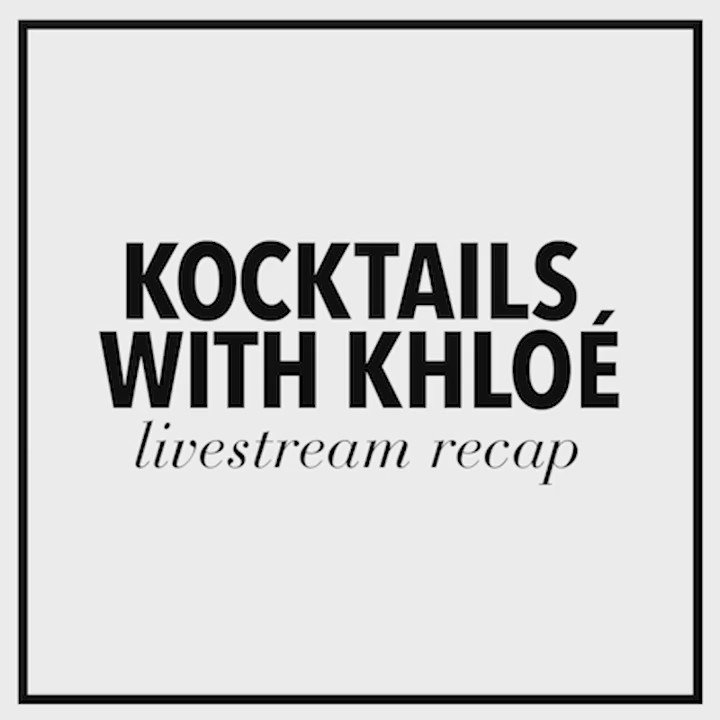 Last week's Kocktails live stream is on khloewithak (& don't miss Kocktails tonight on FYI)! https://t.co/cwGjmhhPAG https://t.co/E2YCluiyE9