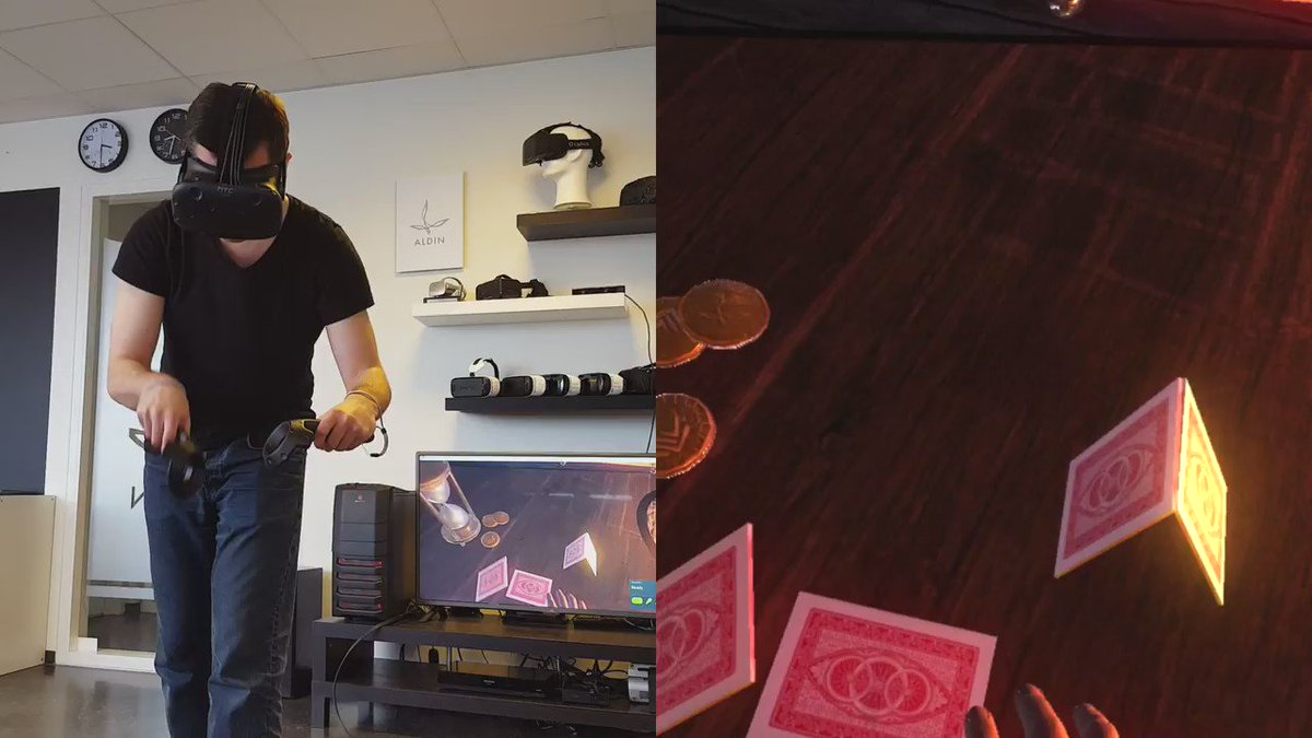Building A House Of Cards In Virtual Reality Vive