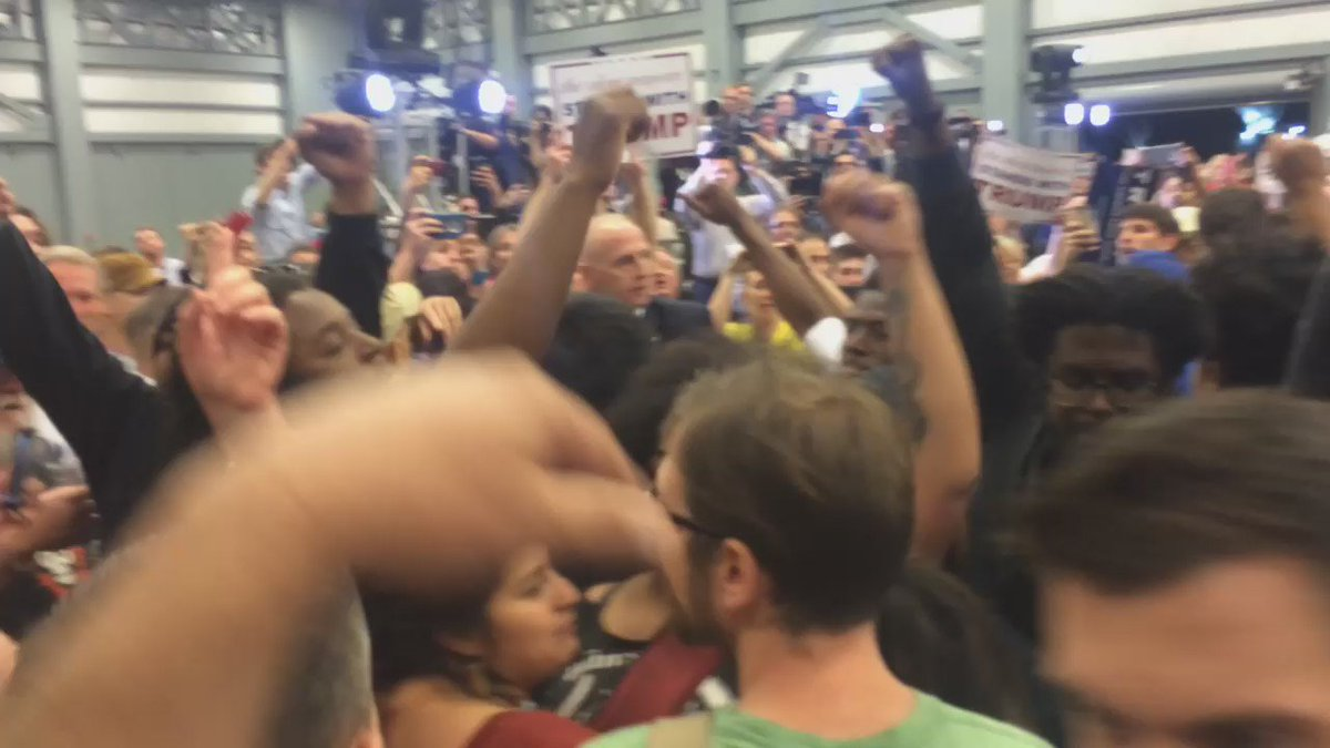 #BlackLivesMatter protesters pushed out of Trump rally. https://t.co/WX6Dwdd1F6
