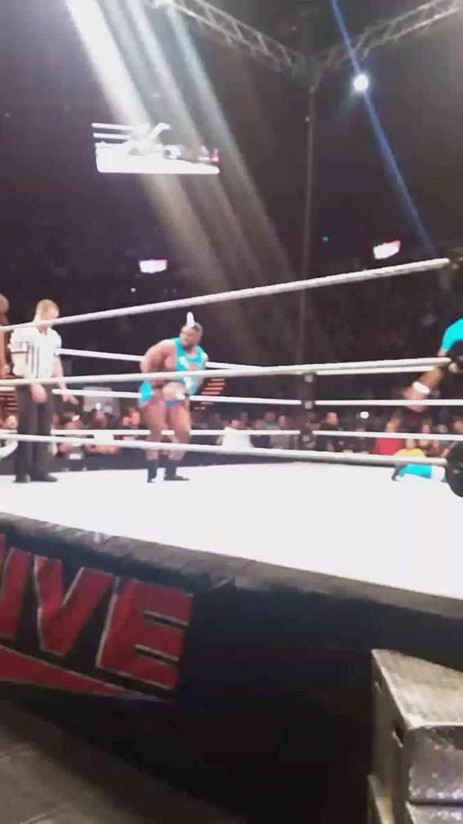 Big E doing what he does #WWECedarRapids https://t.co/zaOMScuKfG