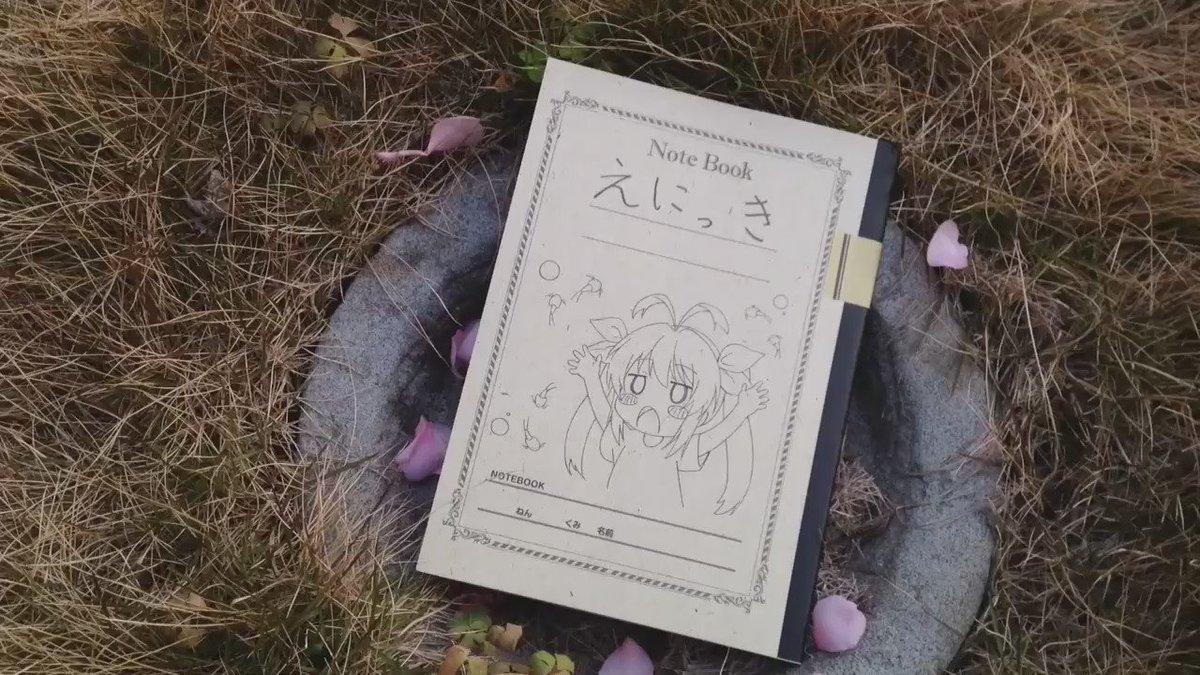 今日はのんのんびよりのえにっき帳の動画を野外で撮影しました。中にアニメのれんちょんとなっつんの書いた落書きをあしらった、