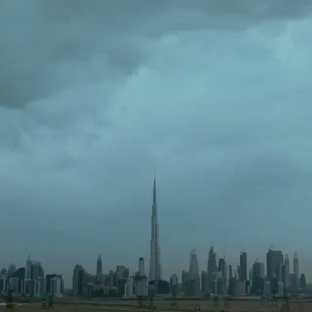 Nature strikes in Dubai; an incredible video from @faz3 capturing this week's bizarre weather. https://t.co/00S65BRqI8