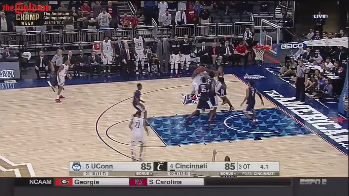 If you don't love basketball in March you're dead inside RT @TheCauldron Here's the ridiculous ending to UConn-Cincy https://t.co/pLsLLBTUTc
