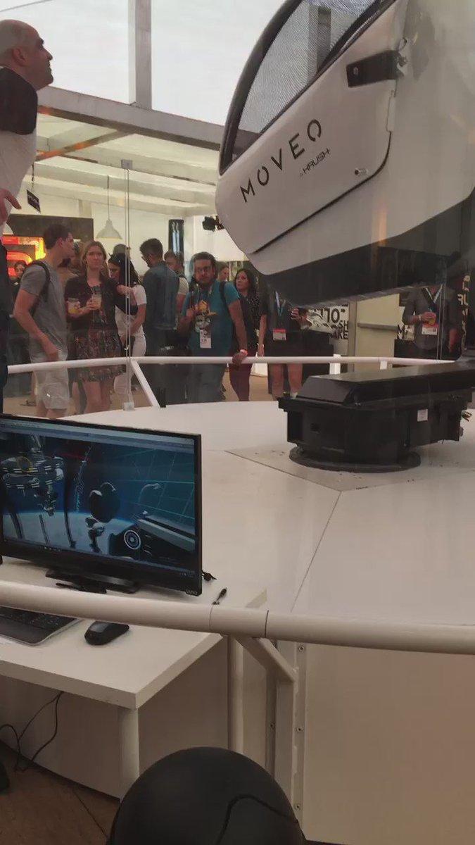 Checking out the @krushtech VR pod. Cool stuff. #sxsw #VMLatSXSW https://t.co/9ShpECiA1x