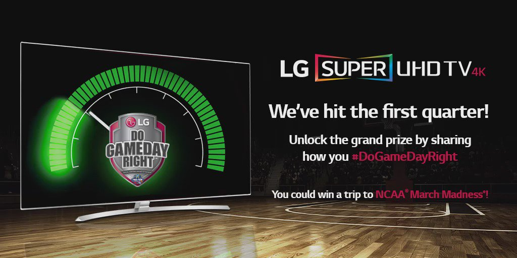 Keep it up! Retweet and tell us how you #DoGameDayRight and you could win a trip to the Final Four®! @marchmadness https://t.co/NK2SCc4L0a