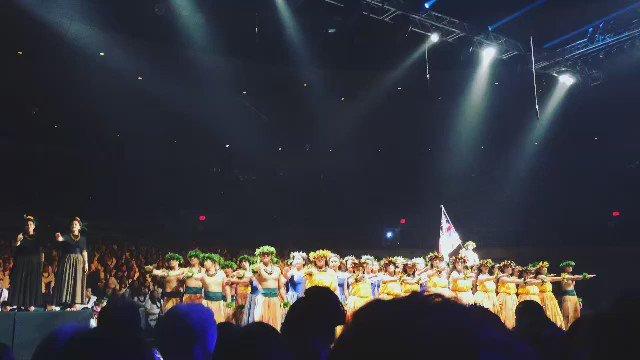 The KS Kapālama haumāna perform a powerful mele, Kū Ha'aheo, written by 1990 KS Alum Hinaleimoana Wong-Kalu #KSSong https://t.co/AJdTWdT8zT