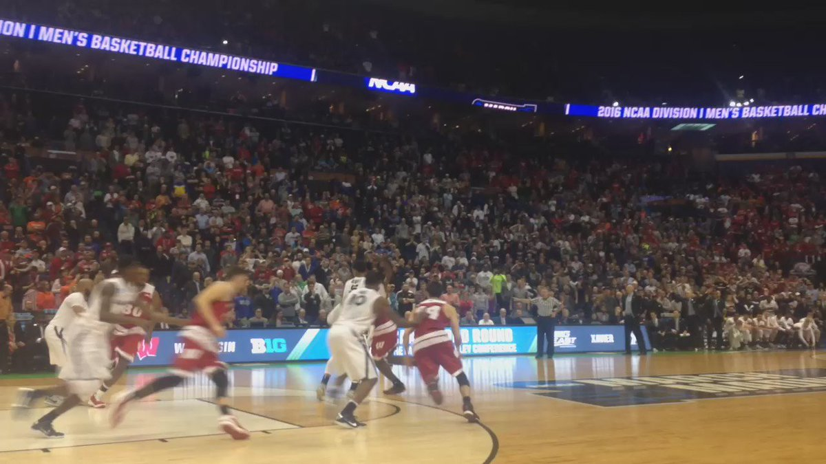 My view from press row. Congrats, @BadgerMBB. https://t.co/85rYMxxgmm