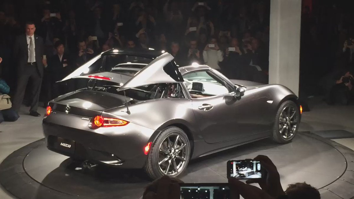 Mazda MX-5 RF #MX5RF in New York. https://t.co/TO6Hq1ZZhV