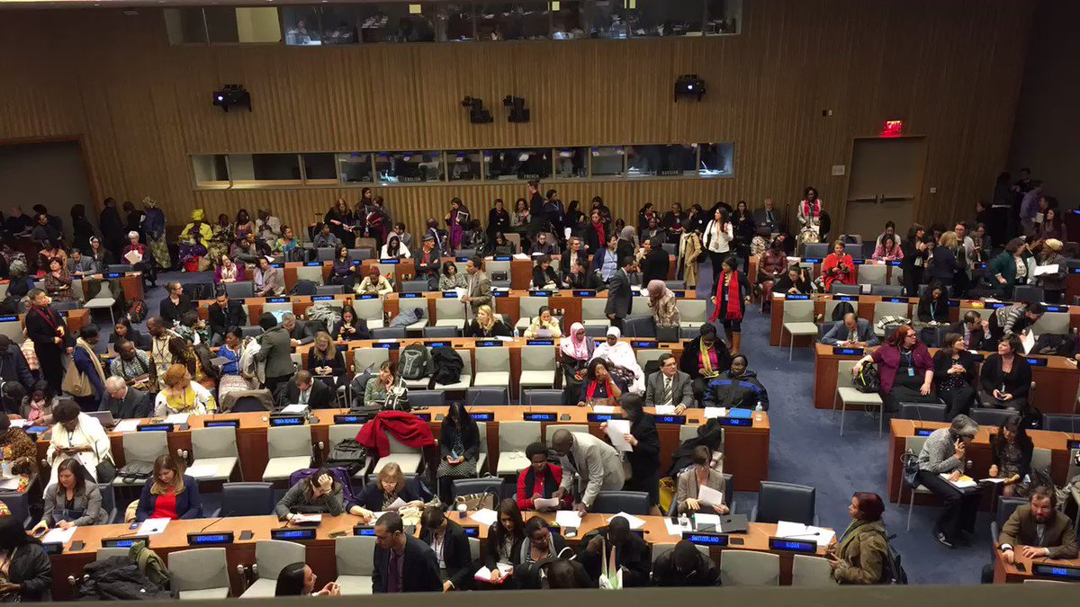 Timelapse: #CSW60 delegates are in the final hour of negotiations on the agreed conclusions. https://t.co/qmahAjP1Gt