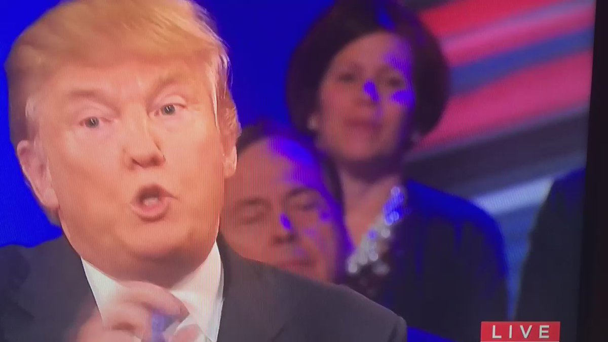 Woman in the audience would NOT like to have Melania as her First Lady #GOPTownHall #