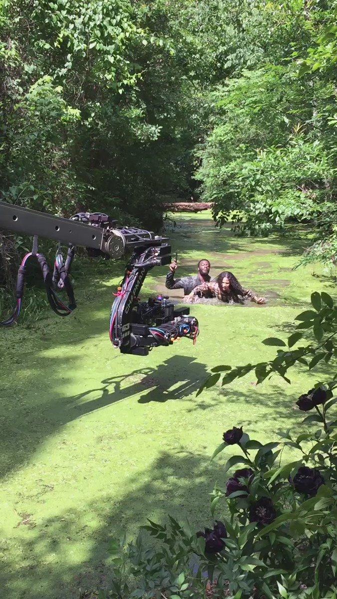 @AldisHodge @jurneesmollett was actually in a swamp! Here's the proof!