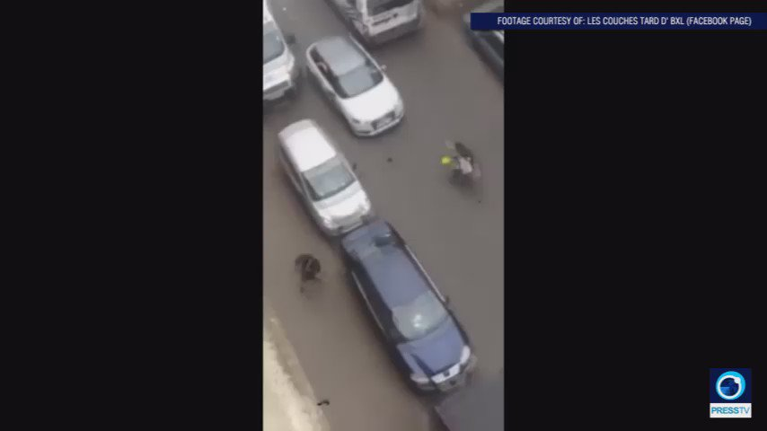 GRAPHIC: Moment Muslim woman is run over in Brussels caught on film https://t.co/Ab2Jos4vvZ