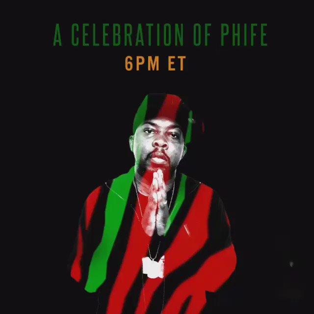 "Join us today at 6PM ET for a ""Celebration of Phife,"" live streamed on https://t.co/N5xtJFYdKC  #celebrationofphife https://t.co/GVWbfKUn5j"