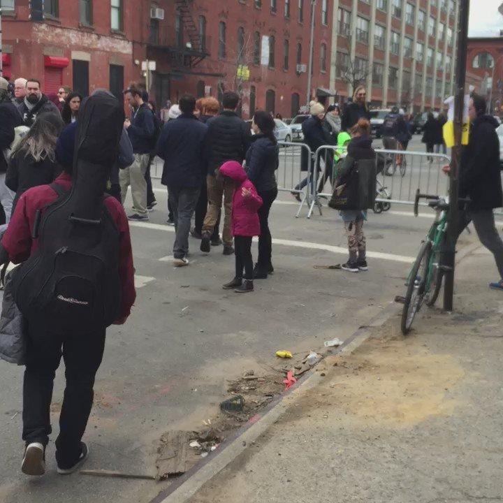 Line up for @BernieSanders in #Greenpoint. #BernieInBrooklyn #FeelTheBern https://t.co/NDpfr0vGmR
