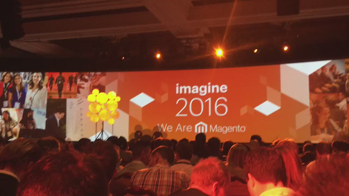 chadcdavis: The production quality at #MagentoImagine is off the charts. Many many props. https://t.co/VYvjJAfl27