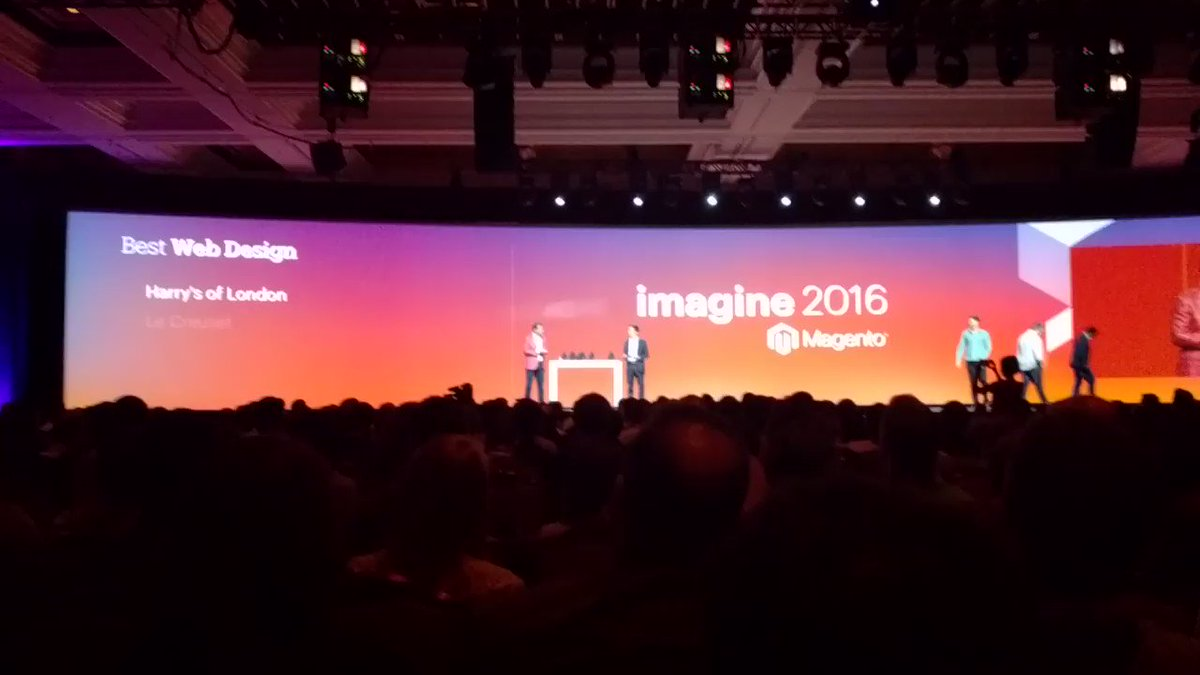 blueacorn: We're incredibly honored to receive the Best Web Design award with @lecreuset for this year's #MagentoImagine https://t.co/0OlmcpHZeT