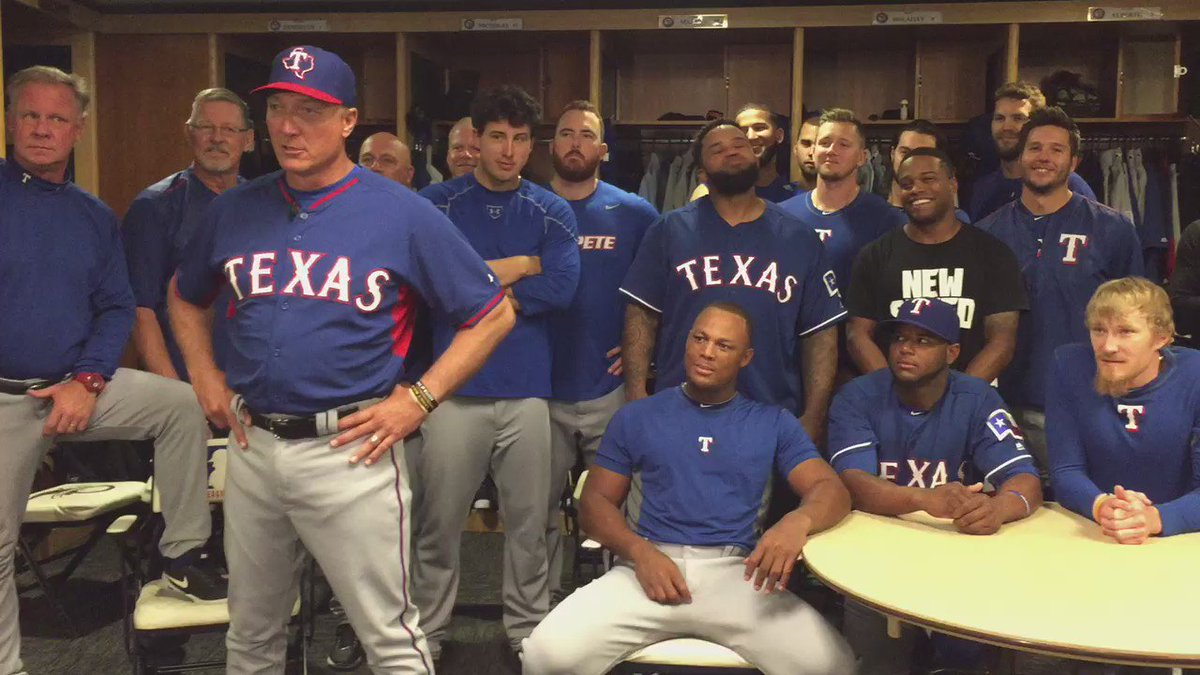 Hey @DallasStars the @Rangers are behind you all the way, especially @RealPFielder28. #letsgochamp https://t.co/DEH1G3K3SX