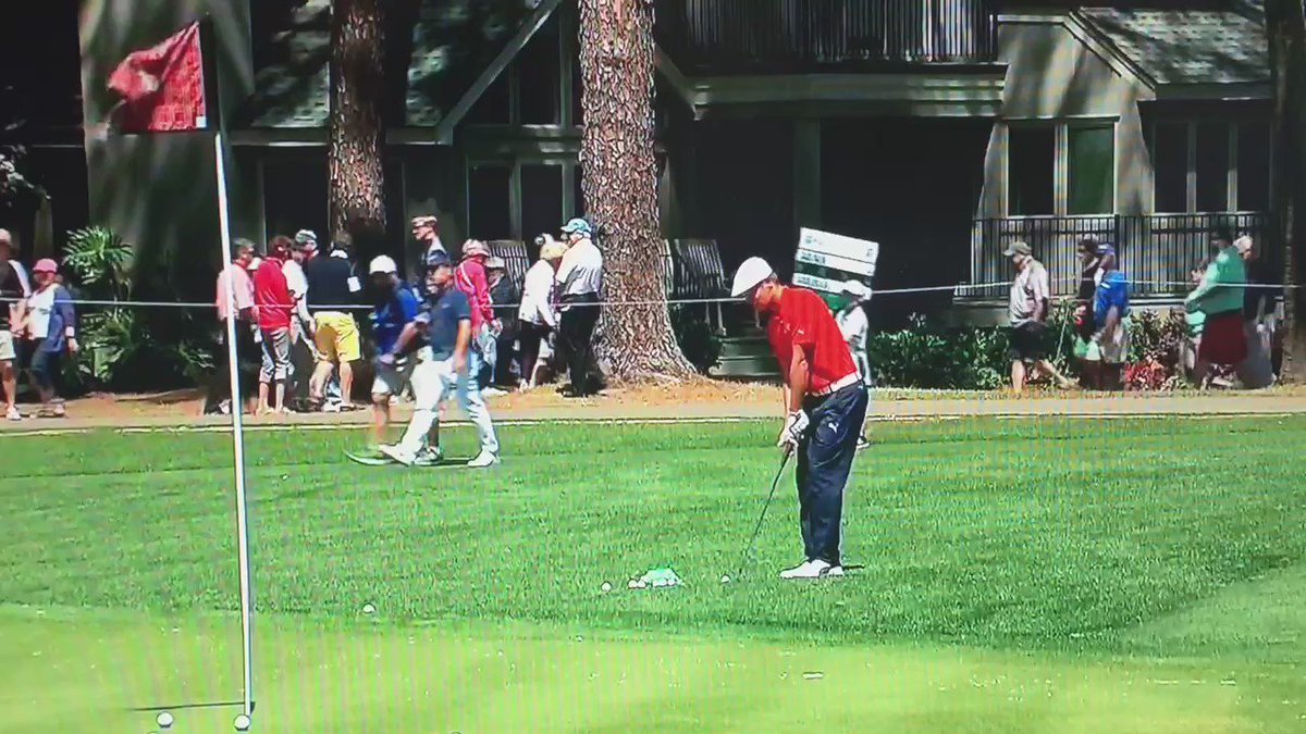 I'm not sure which formula is accountable for this @b_dechambeau  wedge shot. @GCMorningDrive coverage @RBC_Heritage https://t.co/8N9C7P8jam