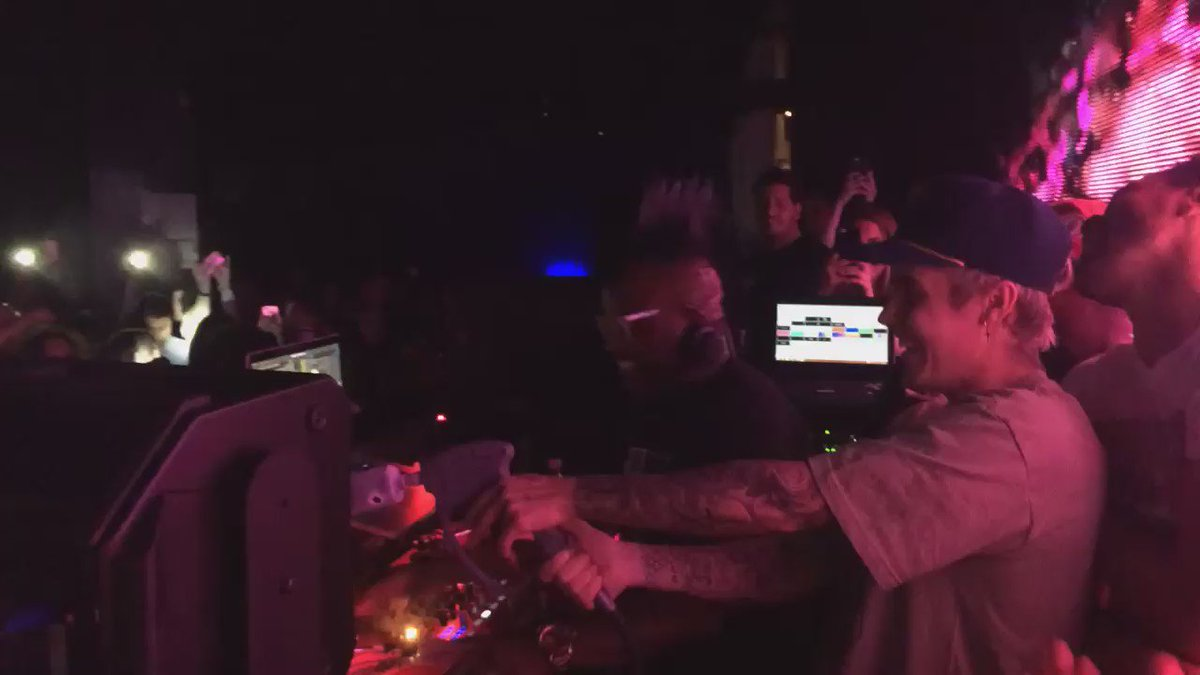What Do You Mean you weren't there last night? Must see vid of @justinbieber in our DJ booth and grabbing CO2 gun