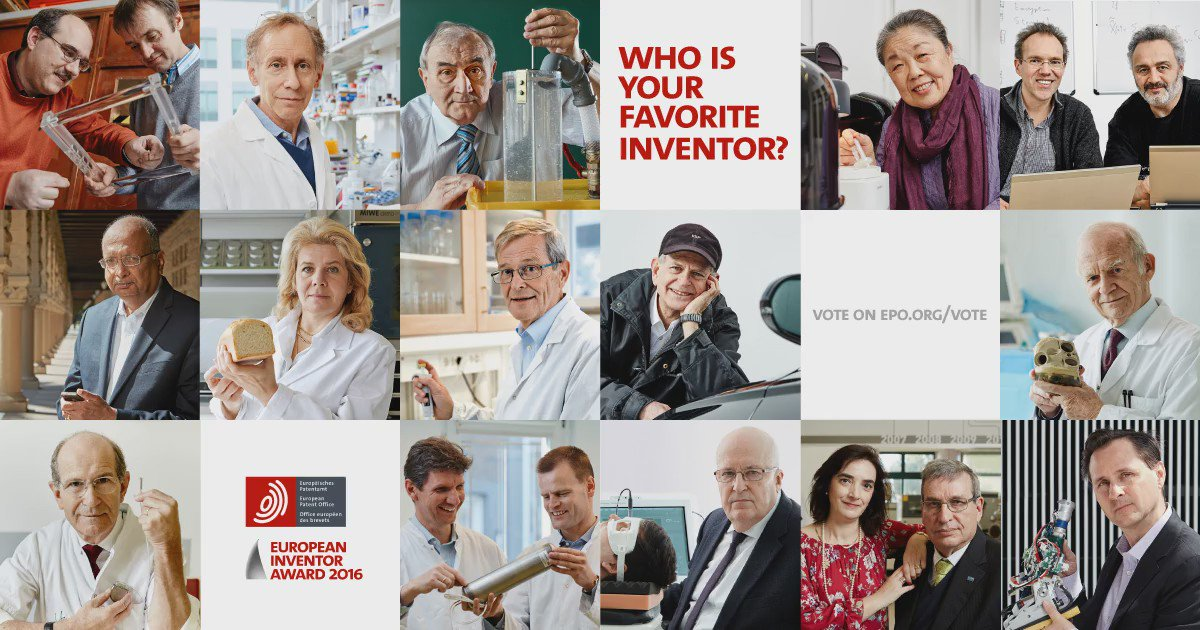 The amazing inventors shortlisted for the European Inventor Award 2016 are ... https://t.co/64bMlazGoA #EIA16 https://t.co/VxgQ9k1UcP