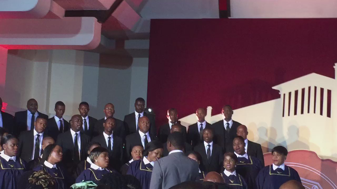 #NationalOrders Choir now singing Umshini Wam'. Is this relevant or appropriate at a government event? https://t.co/4UZrsT045T