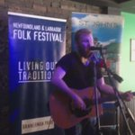 #tbt @Manning77 performing at last years @NLFolkFestival Launch.   Next Thursday we announce the 40th annual lineup! https://t.co/n1GHKYhK9T