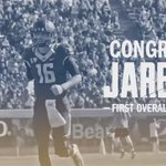 With the 1st pick of the #2016NFLDraft, the @RamsNFL select @JaredGoff16! #CalFamily https://t.co/z2WAMAzjEm