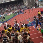 Kingston college getting ready for their heat of the 4x100 #PennRelays https://t.co/hN5dKW21fh