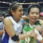 Kim Fajardo and Alyssa Valdez hug it out #UAAPSeason78Volleyball https://t.co/B195mEpd9y