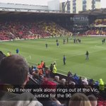 Nice touch from Watford playing youll never walk alone for the Liverpool fans that have finally got justice #jft96 https://t.co/5hersVVX7z