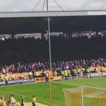 .@LaticsOfficial fans celebrate another goal for @WillGrigg #wafc #upthetics #promotion https://t.co/gnETYJ2sql