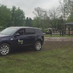 @laurenkieffer driving her new @LandRoverUSA Discovery Sport #Land Rover Best Ride @RolexKentucky @USEquestrian https://t.co/T2RZrYwLqo