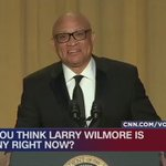 CNNs @donlemon giving @larrywilmore the finger on @CNN pretty much sums up tonights #WHCD: https://t.co/sxRETapxF3 https://t.co/rR0qUKkUQJ