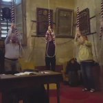 Bell ringers hard at work in @magdalenoxford Great Tower on #MayMorning. https://t.co/RO5qfxmXl1