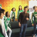 #LadySpikers and @MrPureBusiness doing the Running man challenge @abscbnsports https://t.co/zd7z0SuIld