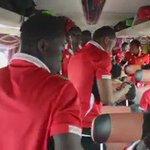Team spirit is high in the team bus of @AsanteKotoko_SC.  #GHPL #Ghana #SuperClash  [SOURCE: @Kwadwolarbi150] https://t.co/PEvA8VgQhQ