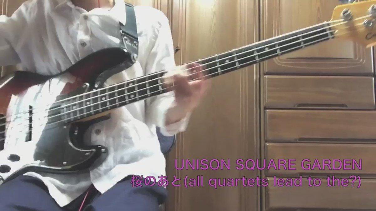 29本目UNISON SQUARE GARDEN「桜のあと(all quartets lead to the?)」夜桜四