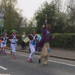 Willy Wonka & the Oompa Loompas approach the end of the Belfast Marathon. https://t.co/zreyShI7B4