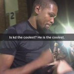 Kd is the coolest. He snuck up behind the crowd waiting for the players and surprised them all https://t.co/bEplEMrWgF