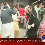 This is the real face of #PMLn PMLN workers harassed 2 PTI women leaders in Faisalabad in dharna days @MaizaHameed https://t.co/FxT1LPrROw