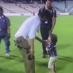 Cutest Moment Youll Ever See In An #IPL Match. SRK With AbRam.   #KKRvKXIP #IPL2016 #IPL9 #IPL https://t.co/ZfvSr4vufq