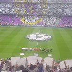 Pre game @ChampionsLeague anthem.. Wow!!! Unreal scenes.. Special place! #Madrid https://t.co/TWCAnzdWJw