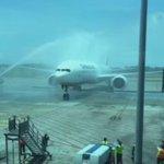 Así llegaba a suelo istmeño el primero vuelo de la aerolinea @TurkishAirlines. https://t.co/R2kO2xrvJn