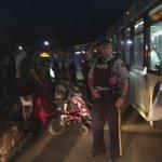 Évacuation par autobus de Anzac #ymmfire #FortMacFire https://t.co/ncD2bKvA9L