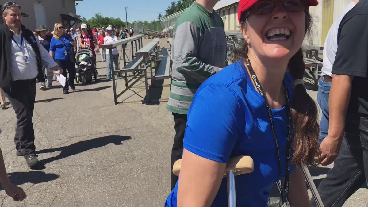 """Even on crutches!"" #TrumpInLynden rally. https://t.co/LY1oZc0WEI"