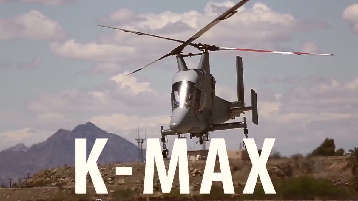 Check out the Marine Corps' first 2 Kaman K-MAX Helicopters. #MCASYuma Watch: https://t.co/aDfkYKVigP https://t.co/kB6qtdgu7I
