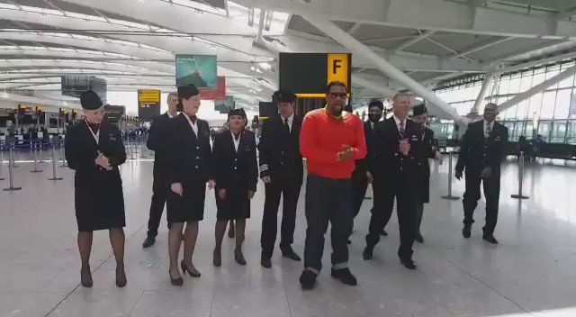 #RunningManChallenge with @British_Airways ... I challenge ALL MY FANS to beat this!!! RT @BestOfRunMan