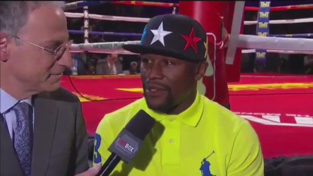 "Floyd talking about fighting Connor McGregor -   ""Absolutely The Fight Will Happen"" https://t.co/XQehXHi0FN"