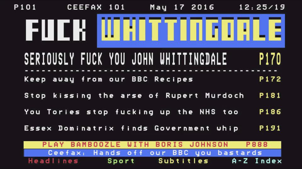 #Ceefax returns in support of #BBCRecipes https://t.co/GEQlp2tJ8u